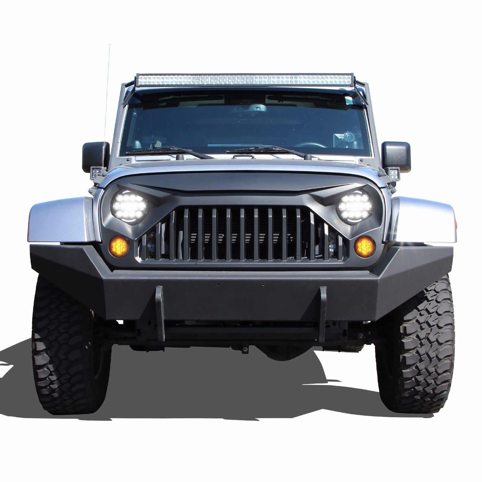 jeep wrangler gladiator grille grill angry jk bird front rubicon unlimited sahara 2007 lights oe lighting upgrade jku tail headlights