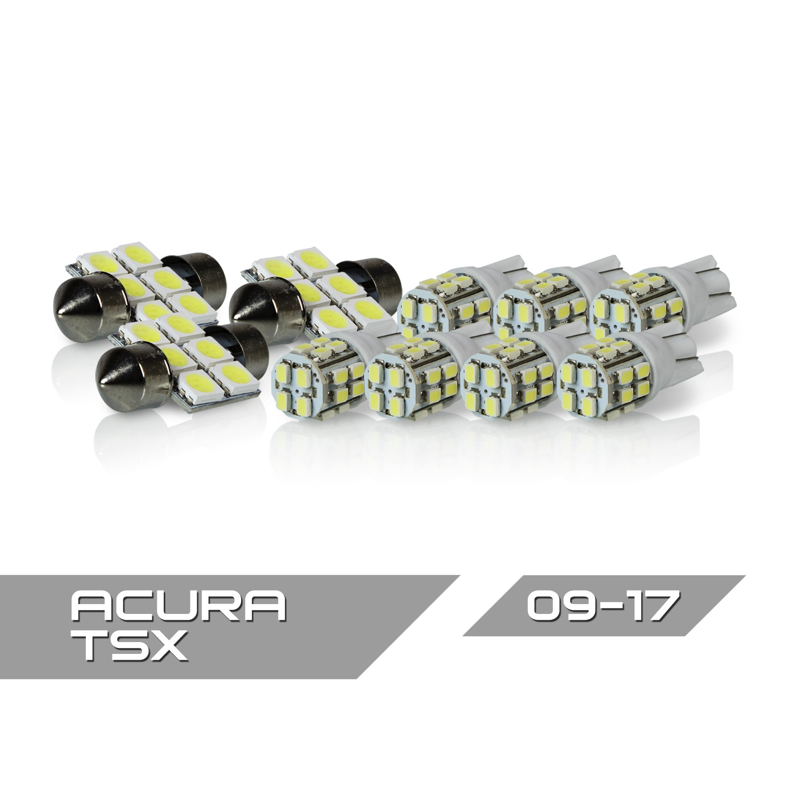 Project RA 10pc 2009+ Acura TSX LED Interior Light Package