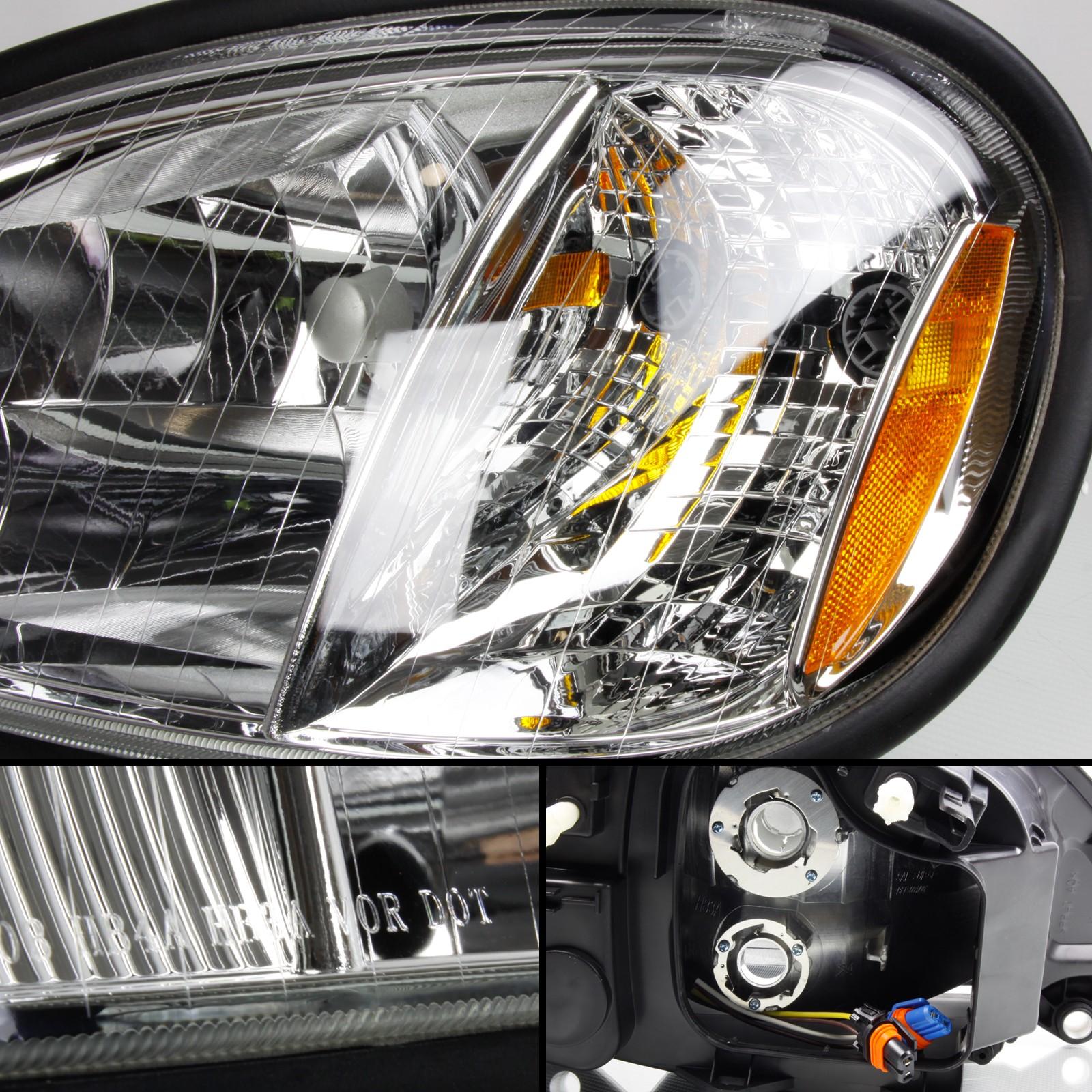 Optix 2004-2016 Freightliner Columbia Truck Headlight + 9006 Low Beam and  9005 High Beam LED Headlight Conversion Kit Combo (2 Pairs)