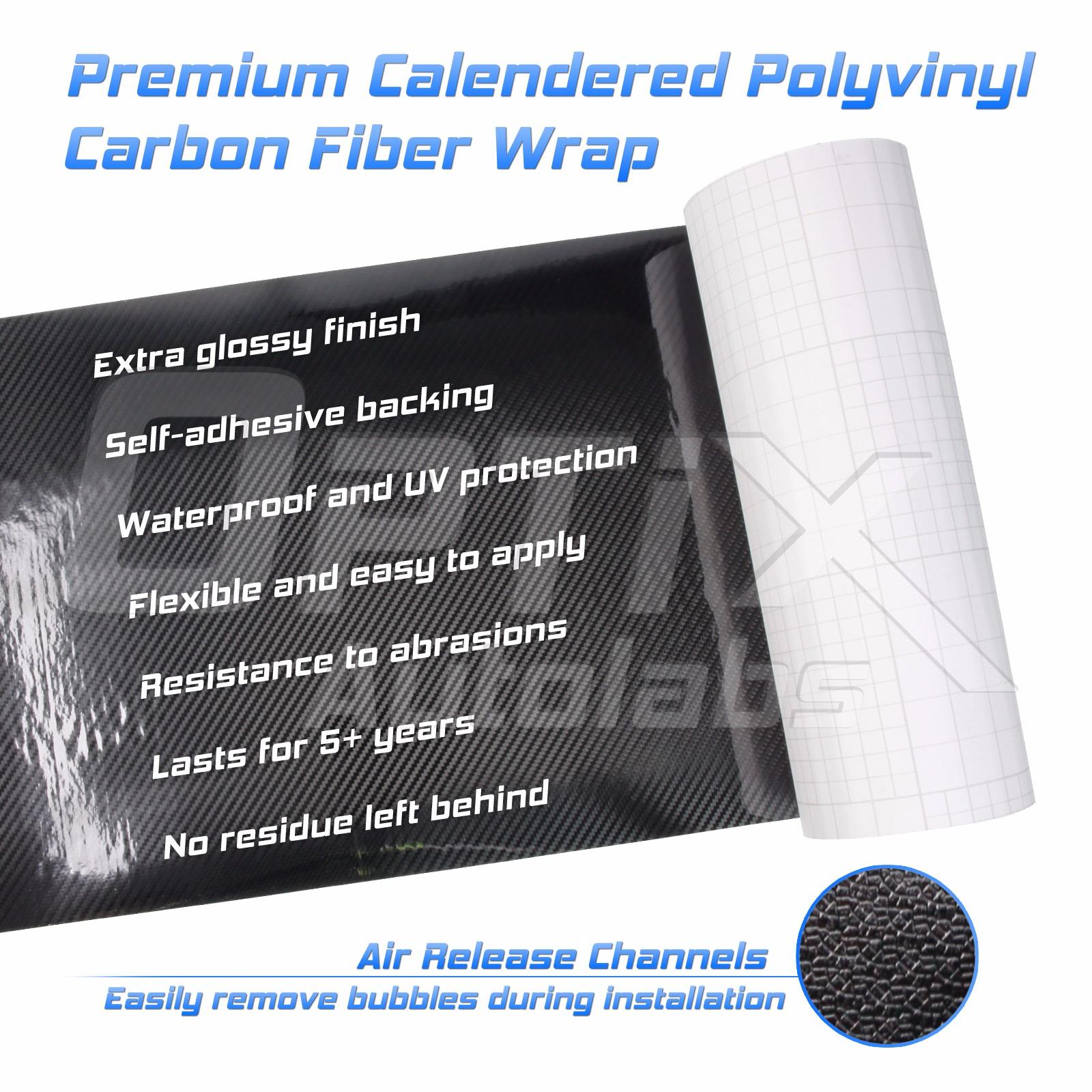 Project RA 5D Bubble Free Carbon Fiber Vinyl Wrap