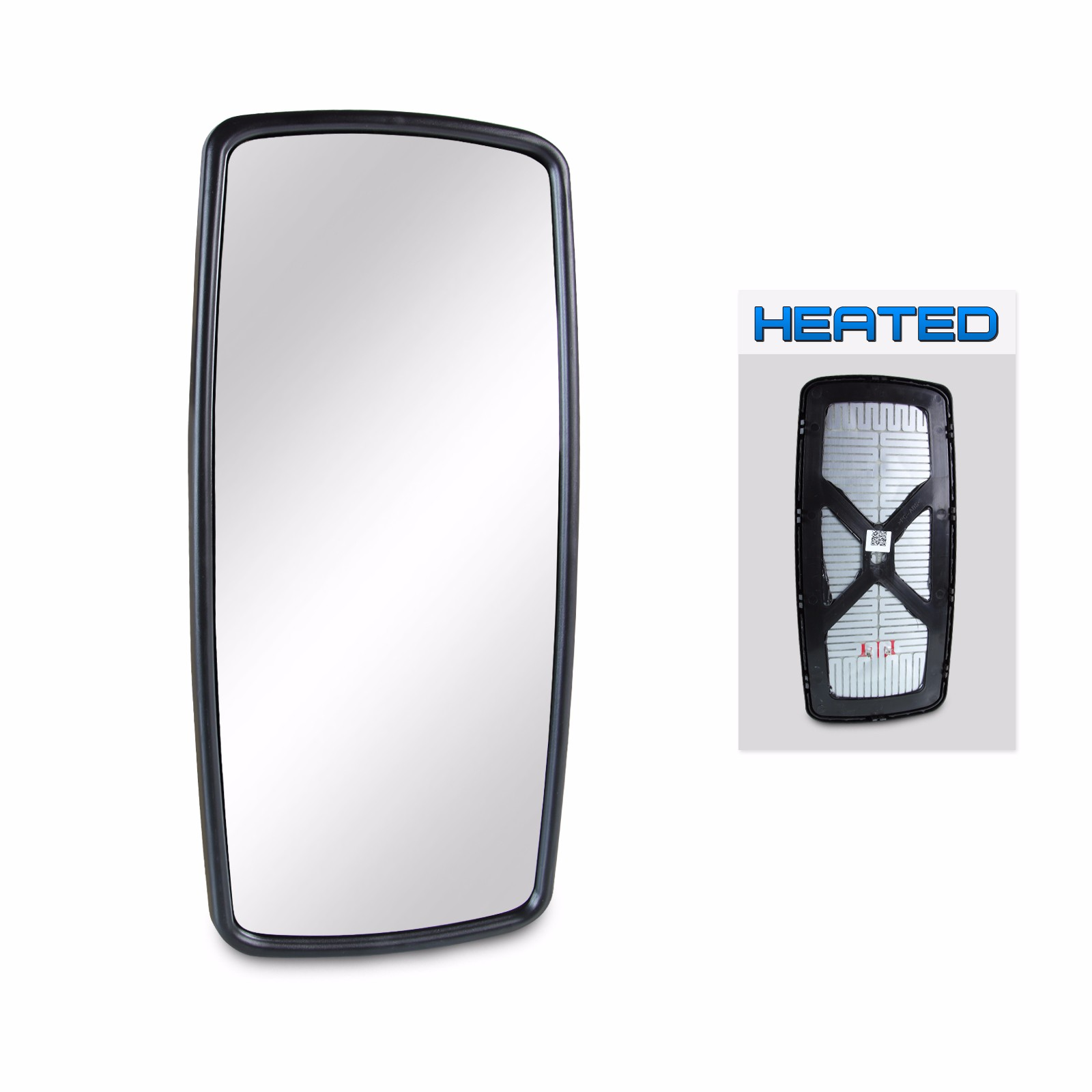 Heated MESprinter 2012 to 2017 Silver Door Mirror Glass Including Base Plate LH Passenger Side Round type Fitting